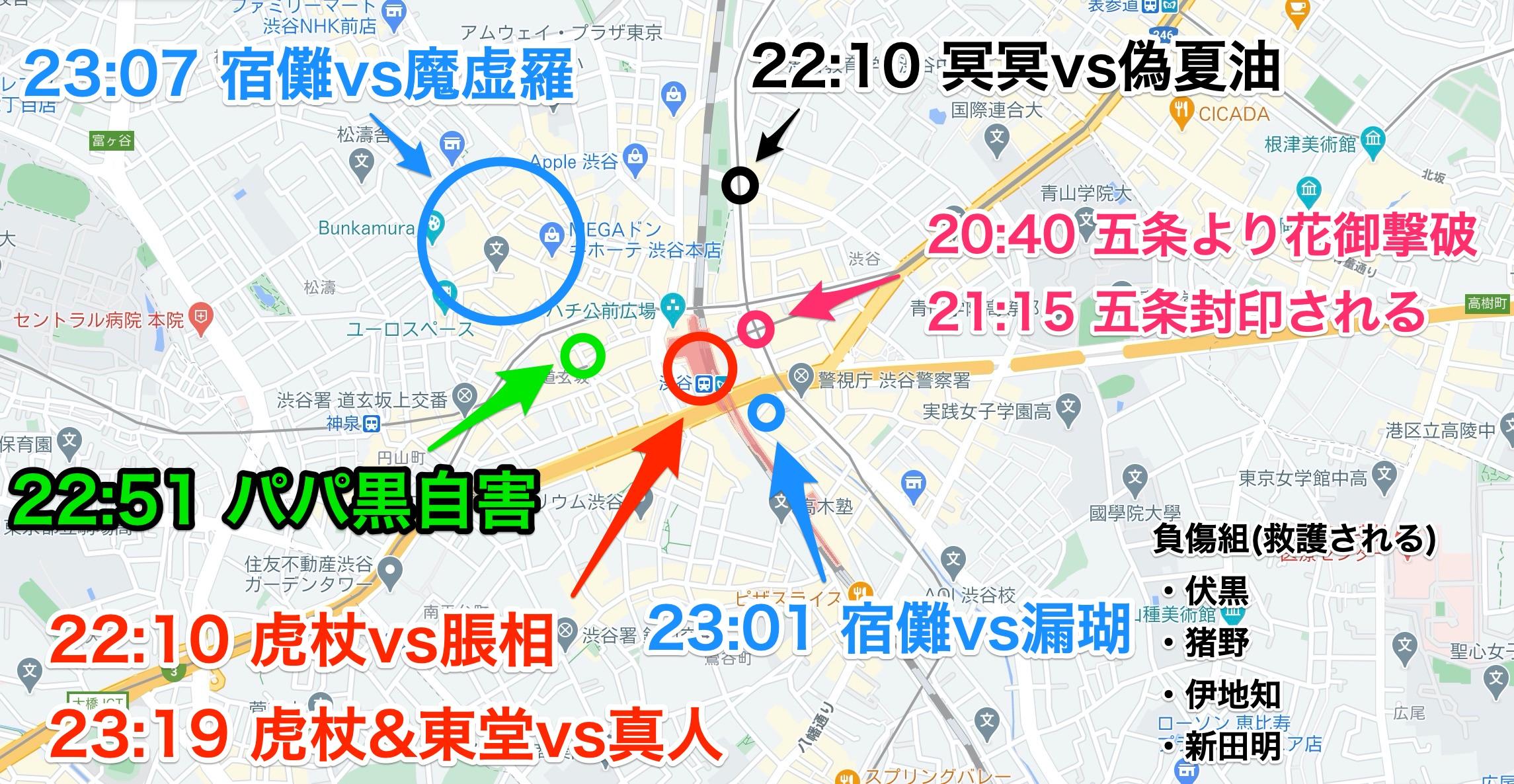 渋谷事変の場所